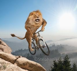 De fietsende leeuw