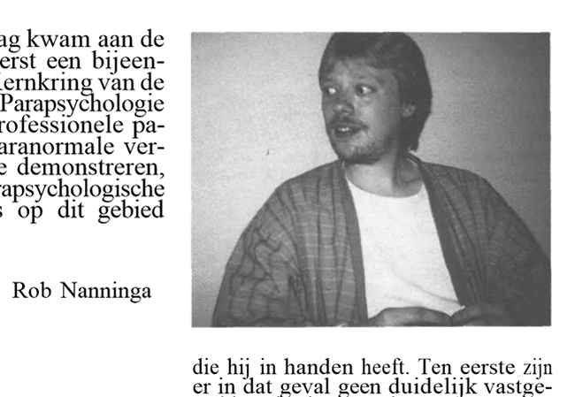 Rob Nanninga, Skepter, Volume 2, #4, December 1989