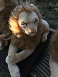 Sensuele leeuwenvorm
