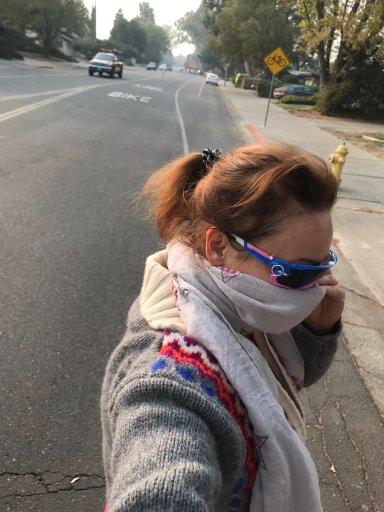 Constantia, 10 november 2018, fietsen in een rokerig Davis