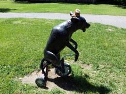 En deze hond bestaan echt in Davis, ja, weer magie! Davis, GreenBelt