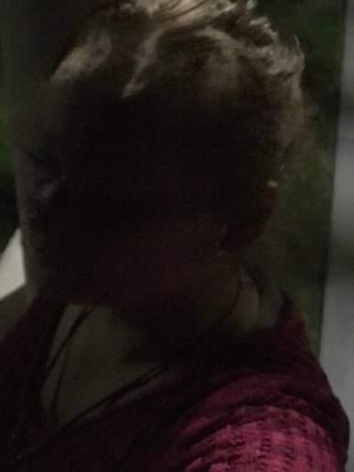 Deze foto nam ik buiten bij Get Fit, Davis. Kijk goed, ik zie Rob Nanninga's gezicht doorkomen, u ook?